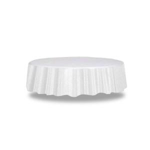 Obrus okrągły biały 210 cm