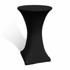 Pokrowiec stretch na stolik koktajlowy 70 cm czarny