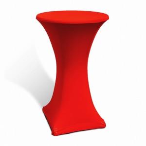 Pokrowiec stretch na stolik koktajlowy 70 cm czerwony