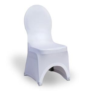 Pokrowiec na krzesło stretch – biały