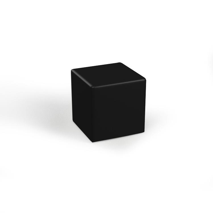 Pufa sześcian czarna
