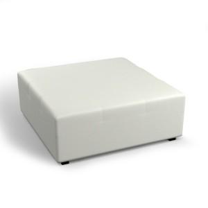Pufa kwadratowa biała