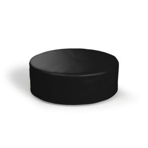 Pufa okrągła duża czarna