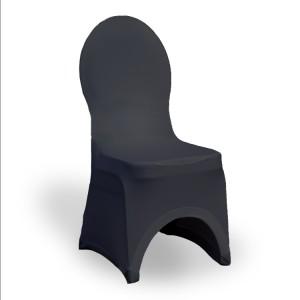 Pokrowiec na krzesło stretch – czarny