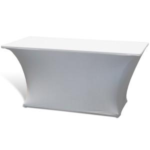 Pokrowiec stretch na stół – biały