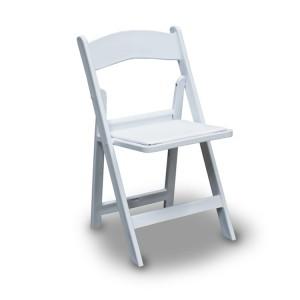 Składane krzesło z wyściełanym siedziskiem