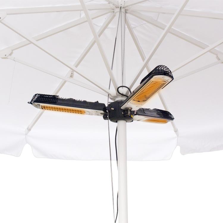 Lampa grzewcza podwieszana do parasola, 2 kW