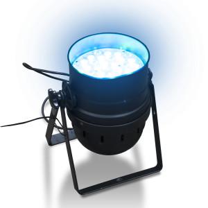 Reflektor par sterowany konsolą DMX